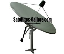 C-Band Motorized Solid Satellite TV Dish Package (8ft / 2.4m)