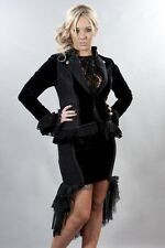 Ladies Burlesque Gothic Victorian Vintage Theatre Lolita Black Jacket