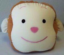 "Snow Foam Micro Beads 13"" Smiling Monkey's Face Head Cushion-Brand New!"
