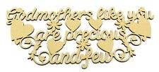 Mum Mothers Day Gift, Present Mdf Plaque Godmother Like You Are Precious and Few