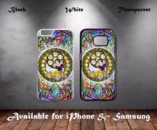 Snow White Disney Cartoon Dwarfs Stained Glass Art Hard Phone Case Cover N585