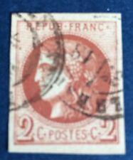 France N° 40 Bd 2 C  Brun Rouge Fonce oblitéré Signe Brun Et TTB Cote 380€