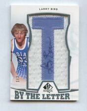 LARRY BIRD 2013-14 SP AUTHENTIC BY THE LETTER AUTOGRAPH PATCH #1/3 CELTICS HOF