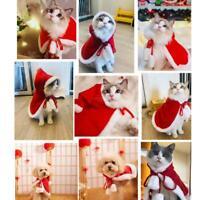 Pet Cat Dog Puppy Hoodie Cloak Shawl Christmas Clothes Coat Costume Apparel S-L