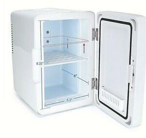 Koolatron 6L Mirrored LED Mini Fridge Thermoelectric Cooler For Cosmetics, Food
