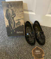 """in box size 7 (41)BARBOUR """"Olivia"""" black leather slip on loafer - quality shoes"""