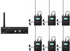 Wireless In-ear Monitor System IEM For performance recording studio (6 Receiver)