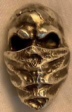 """3 Troy Oz. MK BarZ  """"Skully Bandit""""  Sand Cast .999 FS"""