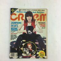 August1984 Creem Music Magazine Pretenders Chrissie Hynde Scorpions Annie Lennox