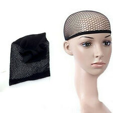 New Hair Elastic Wig Cap Fishnet Liner Weaving Mesh Stocking Sleep Net Black