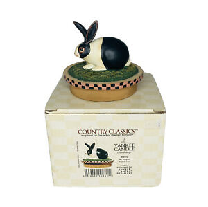 """Yankee Candle Warren Kimble """"BUNNY JAR TOPPER"""" Country Classics Easter 3D NEW"""