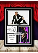 More details for (373) sir cliff richard signed a4 photograph framed/unframed (reprint) great gif