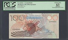 Seychelles 100 Rupees ND(1983) P31s Specimen Uncirculated