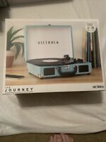 Victrola Journey Suitcase Record Player 3-speed Turntable w/ Bluetooth Speakers