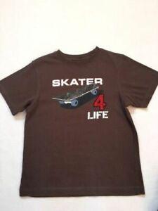 HTF Gymboree brown T-shirt top boys  Size 5 SKATER 4 LIFE Cotton Skate Board EUC