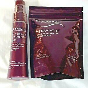 KeraViatin Hair & Scalp Health Supplement 60 Softgels + Lift & Repair Spray 2 Oz