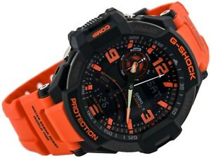 Casio G-Shock Mens Watch  GA1000-4A  GA-1000-4ADR Twin Sensor Black Orange