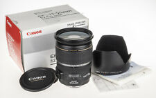 Canon 17-55mm f/2.8 EF-S IS USM zoom lens +box, hood, user manual | scratched