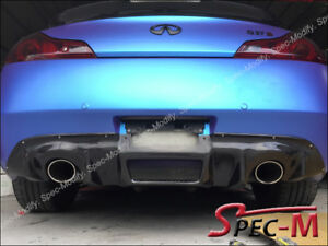 DP Style Carbon Fiber Rear Bumper Diffuser Add On For Infiniti G37 Coupe