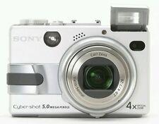 Sony Cyber-Shot (DSC-V1) Silver 5.0 MP NightShot Digital Camera w/ Power Supply