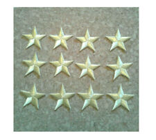 """( Set Of 12 ) Embroidered Gold Metallic Stars - Star - Iron On Patch - 1 5/8"""""""