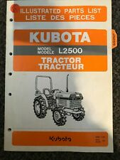 Kubota Tractor Illustrated Parts List L2500