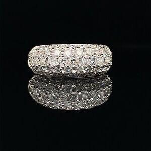 1.50-Carat Pavè Diamond Band 14K White Gold