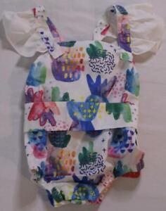 Pat Pat Girl's Graffiti Pineapple Print Bodysuit TM8 Blue Size 3-6 Months NWT