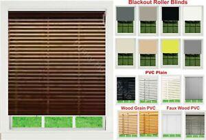 Plain PVC Wooden Grain Effect Venetian,Faux Wood Blinds/Thermal  Blackout Blind