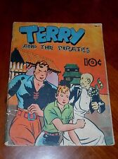 TERRY AND THE PIRATES #2 (DELL 1937) LARGE FEATURE BOOK G-VG (3.0) cond. RARE!