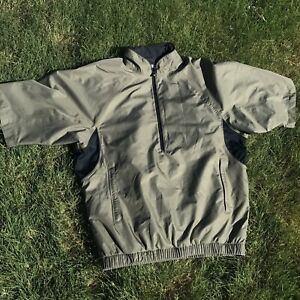 FootJoy DryJoys Tour Collection 1/2 Zip Short Sleeve Wind Shirt Jacket Sz S