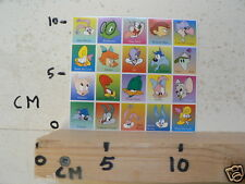 STICKER,DECAL DISNEY FIGURES ? SHEET 20 STICKERS BUSTER BUNNY,CALAMITY COYOTE ,