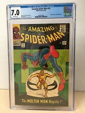Amazing Spider-Man #35 (1966) CGC 7.0 2nd Molten Man Off-White Pgs