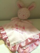 Carters Child of Mine Baby Security Blanket Pink Bunny Thank Heaven Little Girls