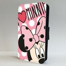 Disney I Love Minnie Polka Dots Pink FLIP PHONE CASE COVER for IPHONE SAMSUNG
