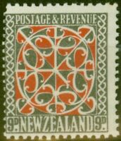 New Zealand 1936 9d Red & Grey SG587 Wmk Sideways P.15 x 14 Fine MNH