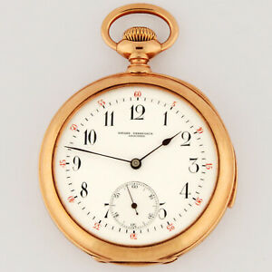 Girard Perregaux 14K Rose Gold 5 Minute Repeater Hammers Jeweled Pocket Watch
