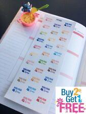 Online :Planner Stickers Erin Condren S468- No School Study at Home Stay Home