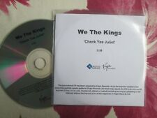 We The Kings Check Yes Juliet S-curve Record Virgin Records UK Promo CD Single