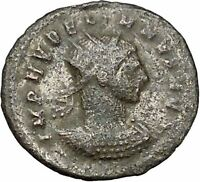 AURELIAN  receiving wreath from woman Authentic Ancient Roman Coin  i40855