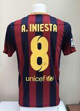 Barcelona Football Shirt Jersey INIESTA 8 Home 2013 2014 Small S Adult Nike