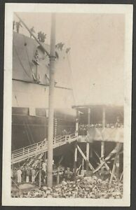 Postcard HMS Dreadnought Preparing For Launch naval shipping RP Gale and Polden