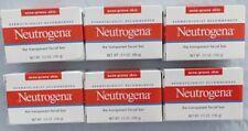 6 Neutrogena Transparent Facial Bar Soap Acne-Prone Skin Formula 3.5 oz each NEW