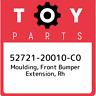 52721-20010-C0 Toyota Moulding, front bumper extension, rh 5272120010C0, New Gen