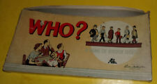 Rare 1951 Parker Brothers Game of Who Board Game! Nice See!