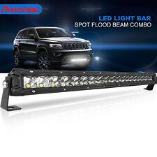 Single Rows 22 inch 200W LED Work Light Bar Spot Flood 4WD Driving Boat
