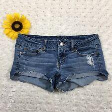 American Eagle Womens Jean Short Shorts Size 4 Stretch Blue Denim gr3381
