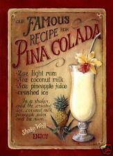 VINTAGE STYLE RETRO METAL PLAQUE : Pina Colada Ad SIGN