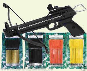 Pfeile Ersatzpfeile Bolzen aus Kunststoff oder Alu für Armbrust Armbrustpistole