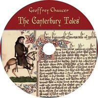 The Canterbury Tales Geoffrey Chaucer Audiobook unabridged English on 1 MP3 CD
